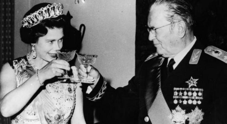 Sa kraljicom Elizabetom II
