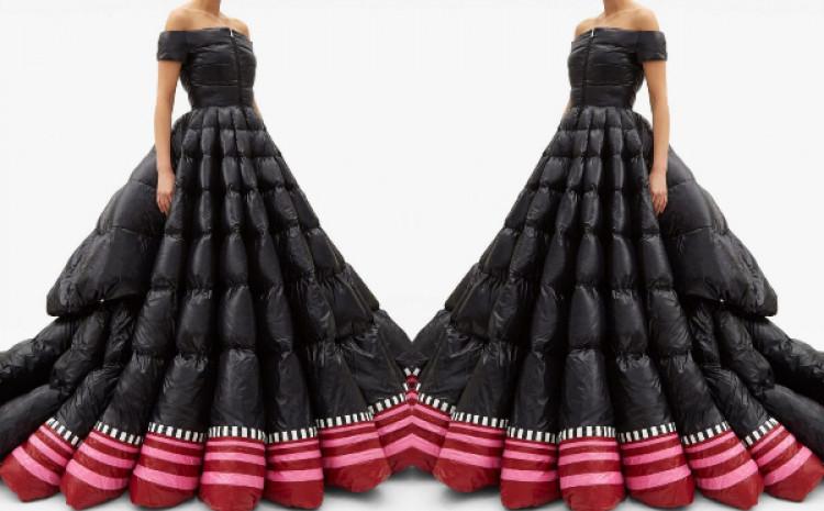 Najlonska spoljašnjost haljine dobila je slavni lakirani finiš