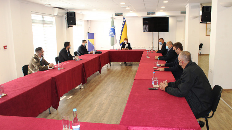 Sastanku je prisustvovao i nosilac gradske liste Koalicije dr. Zlatko Guzin