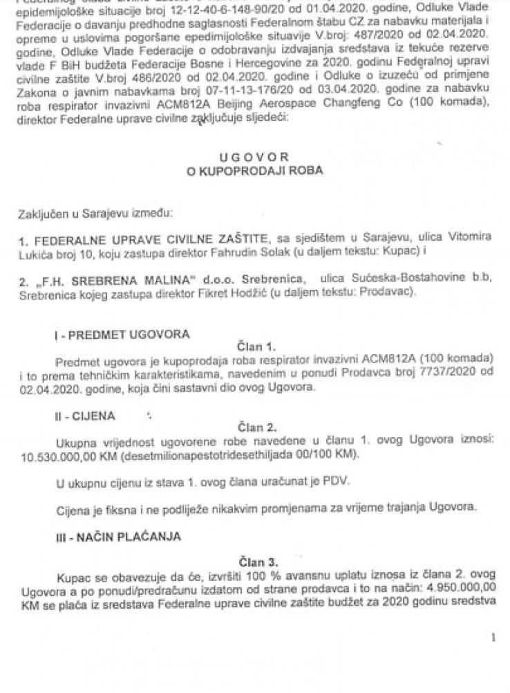 """Ugovor """"Srebrene maline"""" i FUCZ-a"""