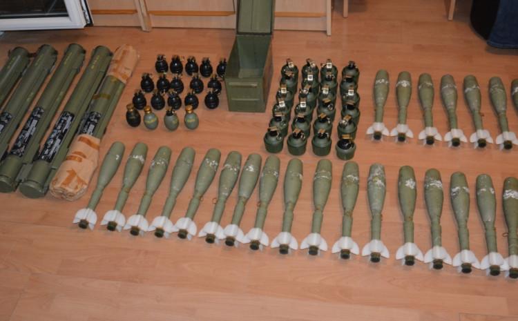 Oduzeti raketni bacači, tromblonske mine i bombe