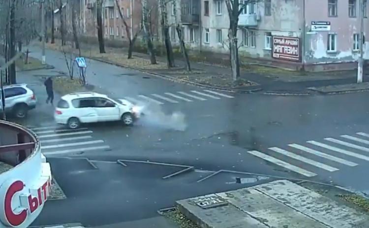 Nesreća uhvaćena kamerom