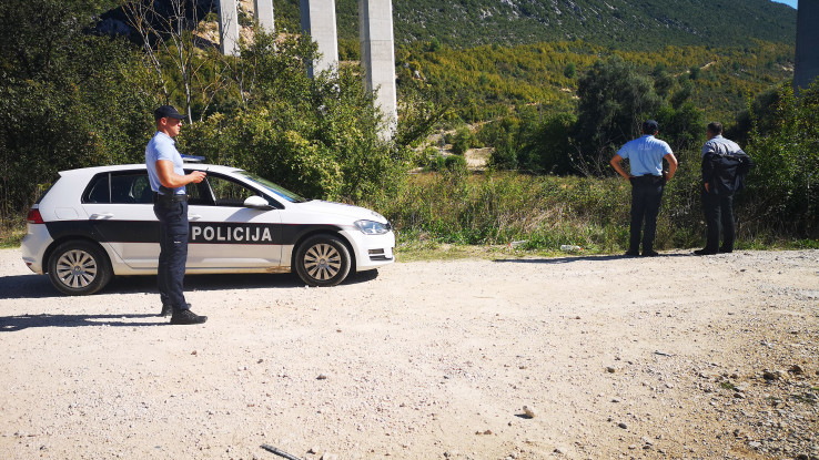 Policija na mjestu pronalaska tijela