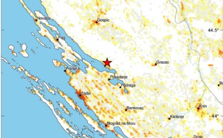 Mjesto epicentra na Jadranskoj obali