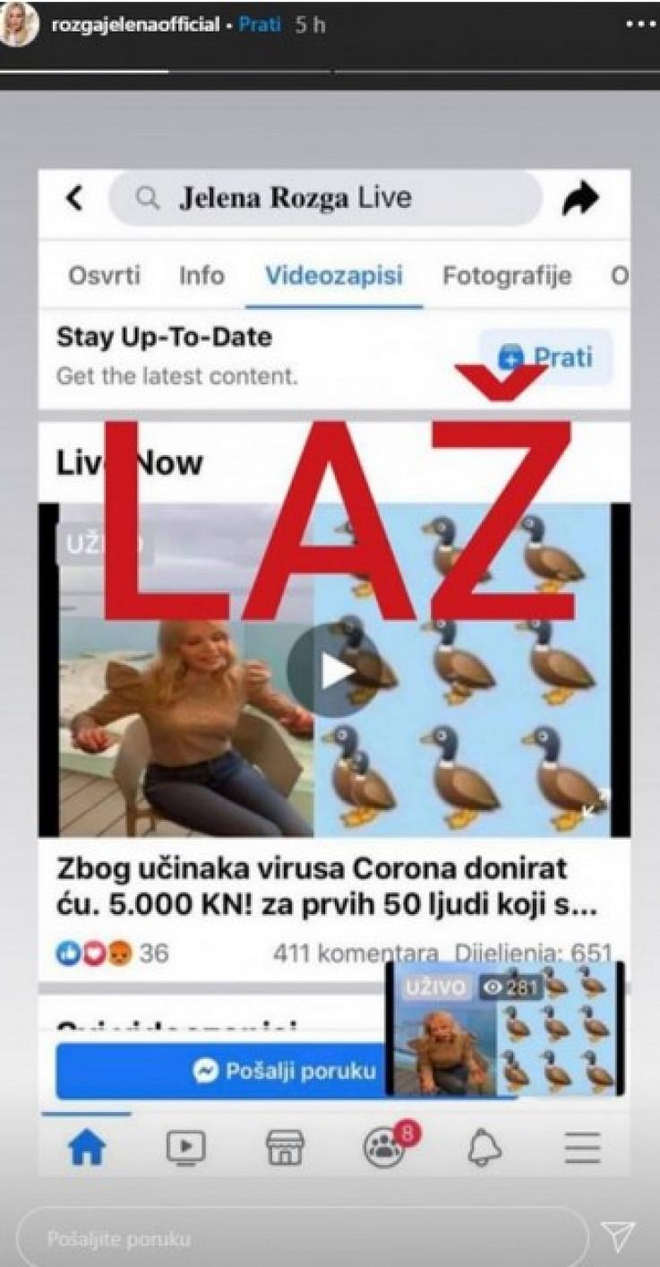 Više od 650 ljudi podijelilo lažnu objavu u kojoj je iskorištena i jedna od njenih starijih snimki