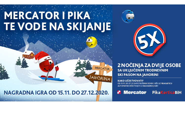 Mercator i Pika te vode na skijanje