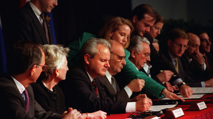 Dogovor o prekidu vatre postignut u Dejtonu, u bazi Rajt-Peterson