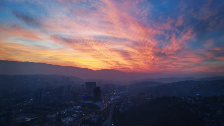 Zalazak sunca u Sarajevu