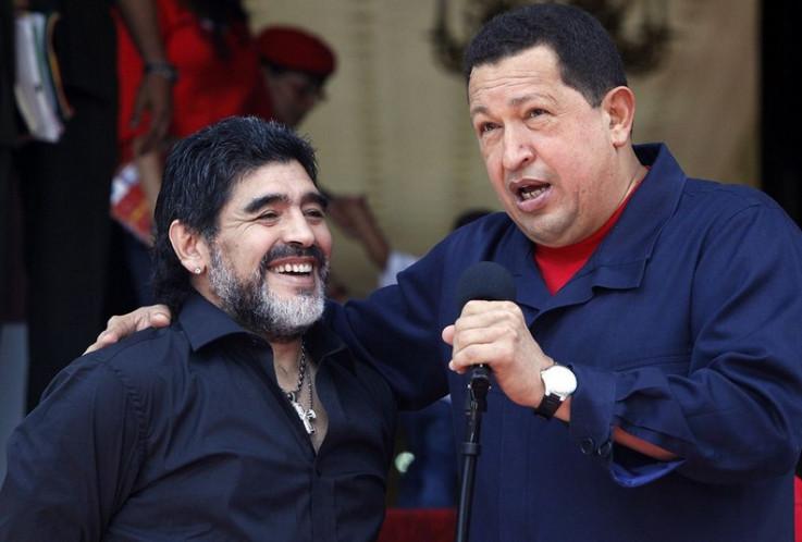 Maradona i Čavez