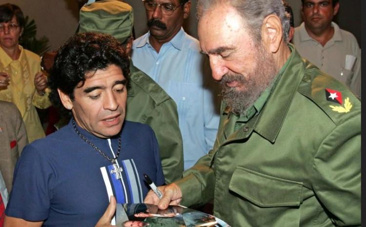 Maradona i Fidel Kastro