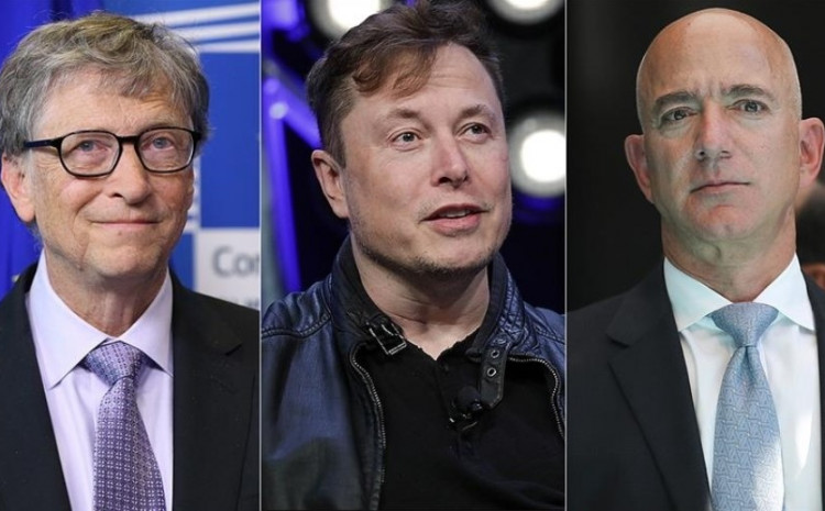 Bill Gates, Elon Musk i Jeff Bezos