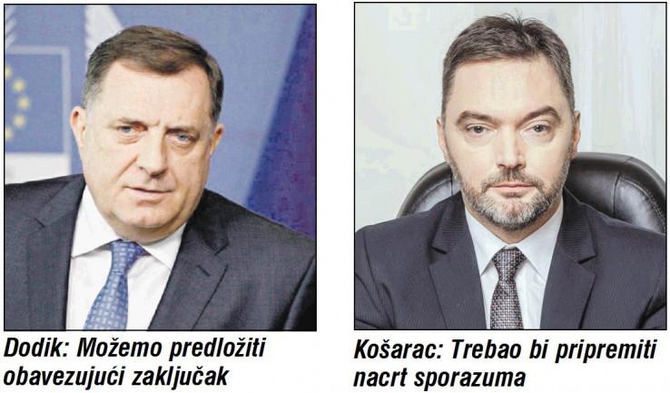 Milorad Dodik i Staša Košarac