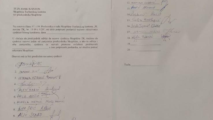 Prikupljeno 18 potpisa