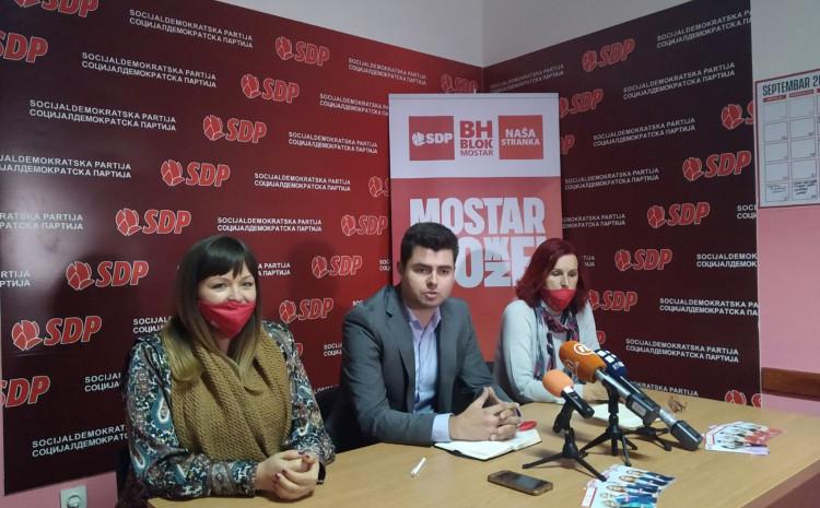S press-a Bh.bloka u Mostaru