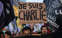 "The slogan ""Je Suis Charlie"" (I am Charlie) has come to symbolise the fight for freedom of expression after jihadist gunmen stormed the Paris offices satirical magazine Charlie Hebdo in 2015."
