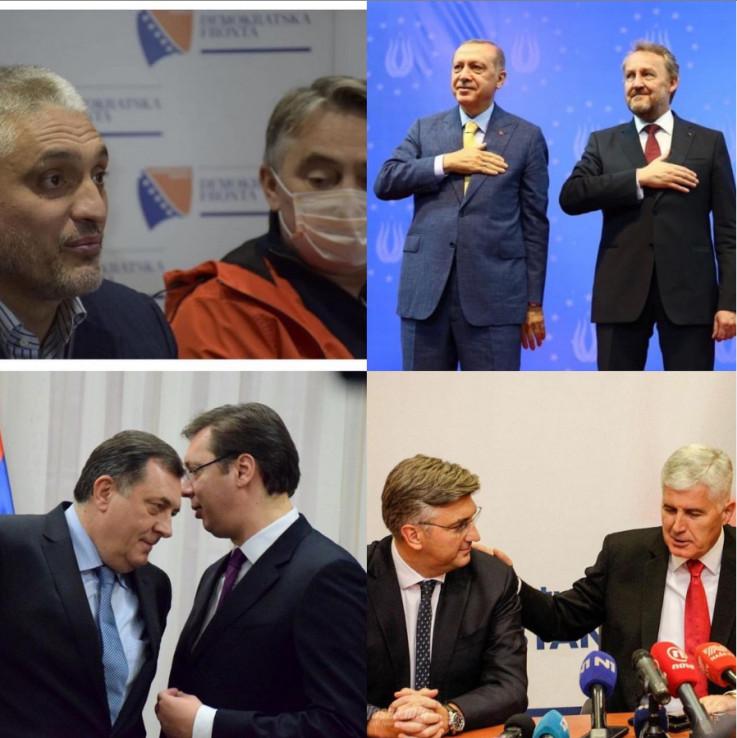 Jovanović i Komšić, Izetbegović i Erdoan, Dodik i Vučić te Čović i Plenković