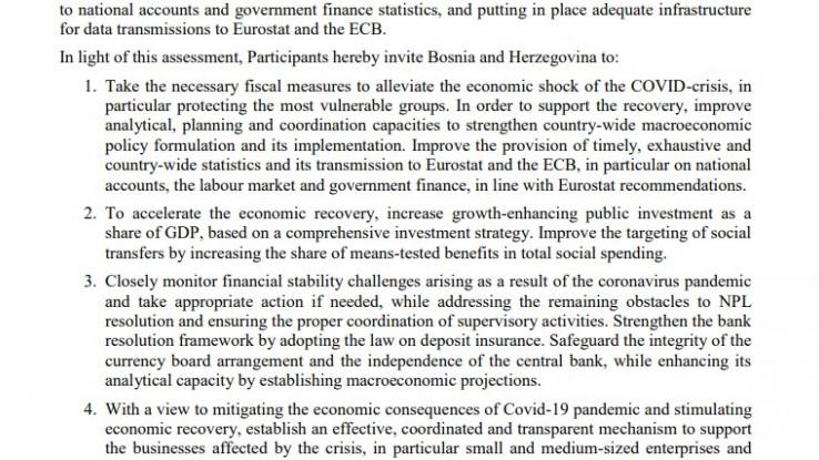 Faksimil dokumenta EU: Moraju se voditi precizne statistike i dostavljati Uniji