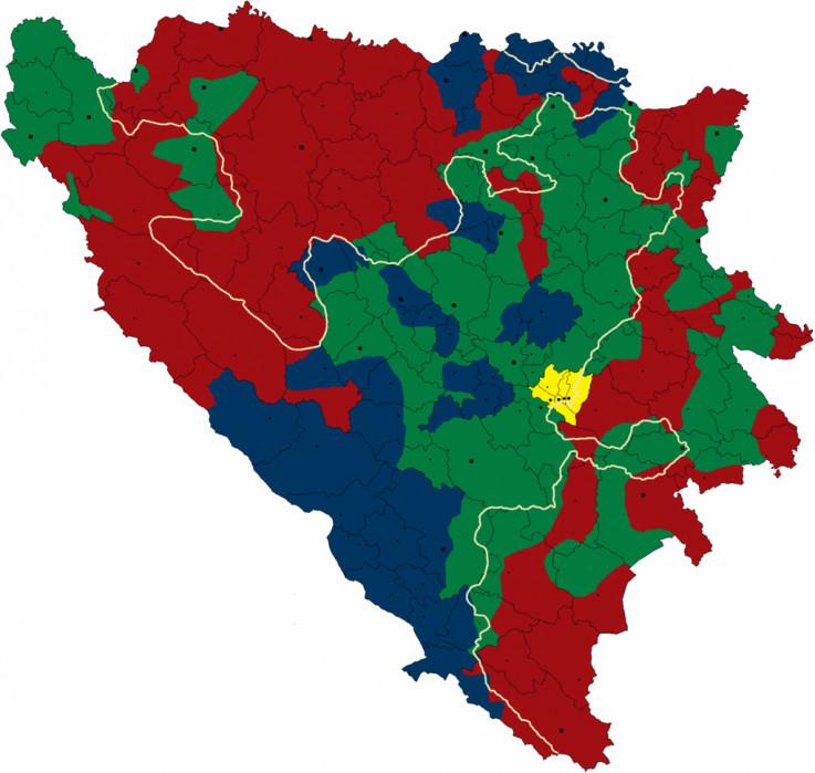 Grubi nacrt podjele teritorije BiH po Karington-Kutiljerovom planu