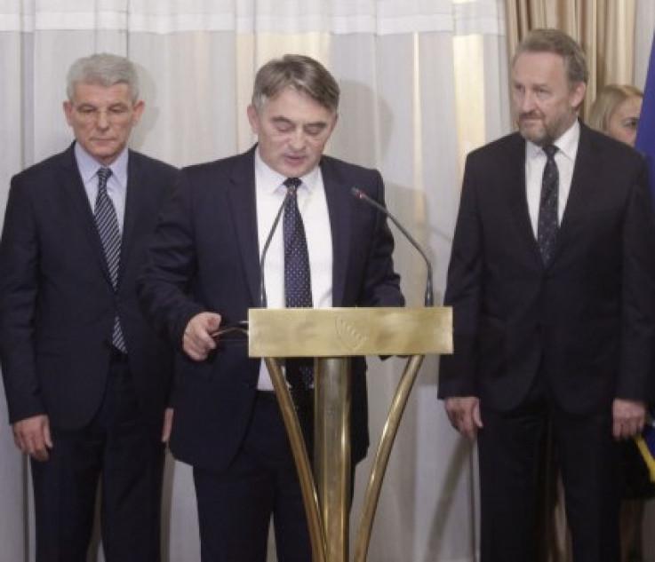 Džaferović, Komšić i Izetbegović