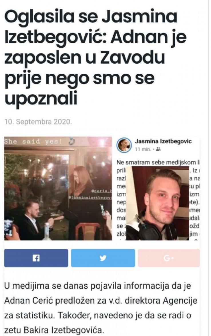 Jasmina Izetbegović: Her chosen ones are well taken care of