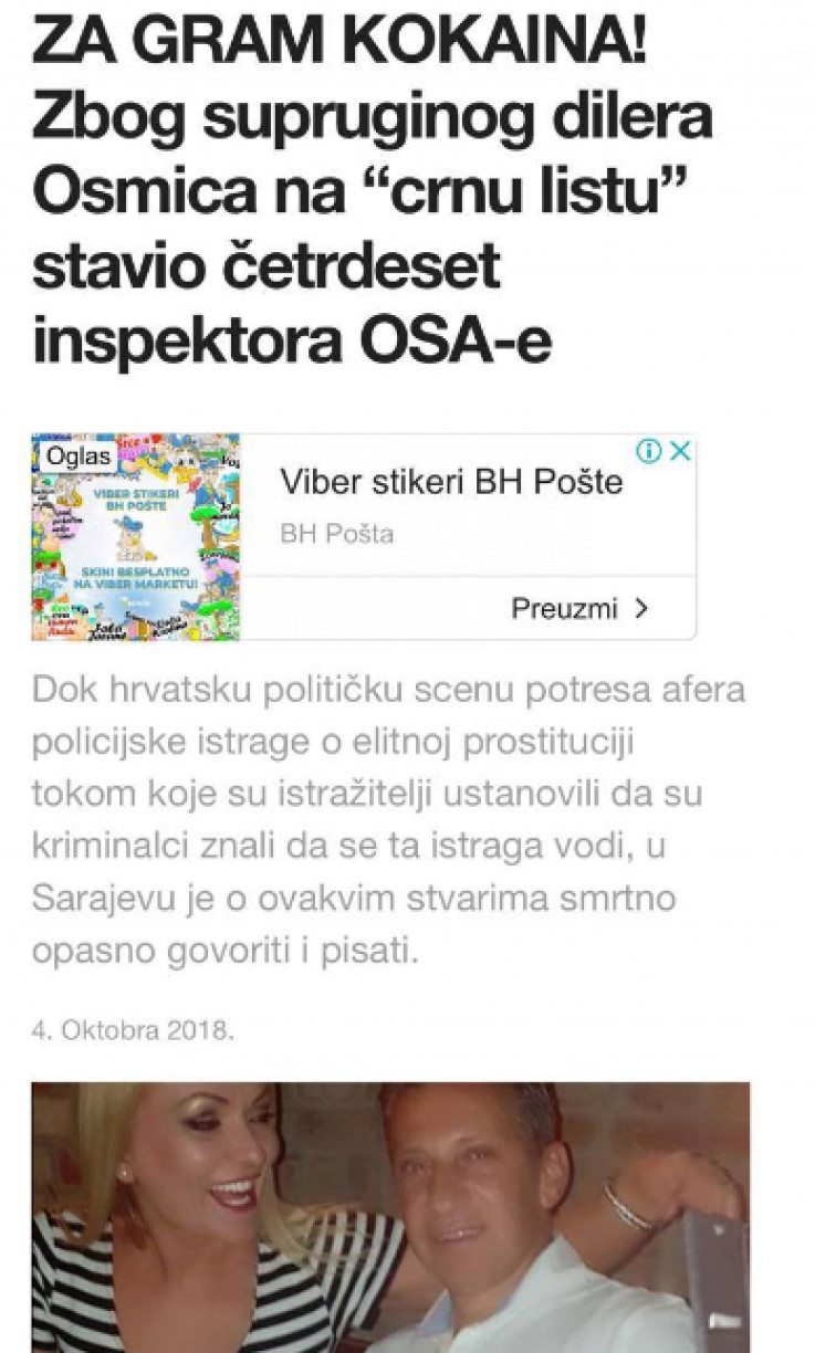 """Fear of the truth: The text of the portal """"The Bosnia Times"""" about the motives for the confrontation with the police"""