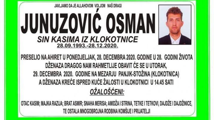 Danas dženaza Junuzoviću