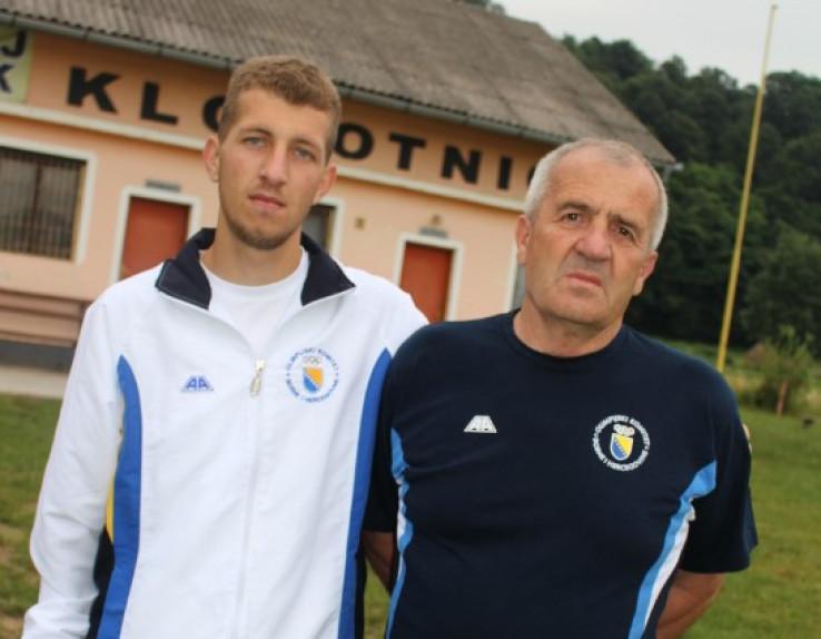 Junuzović s trenerom Jasminom Mujićem