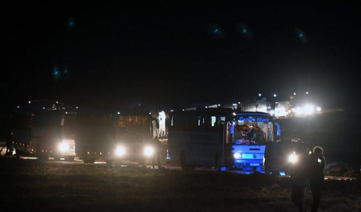U konvoju najmanje 11 autobusa