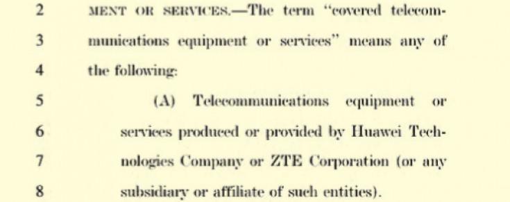 Kongres SAD precizira na koje proizvođače se odnosi zahtjev za uklanjanje opreme