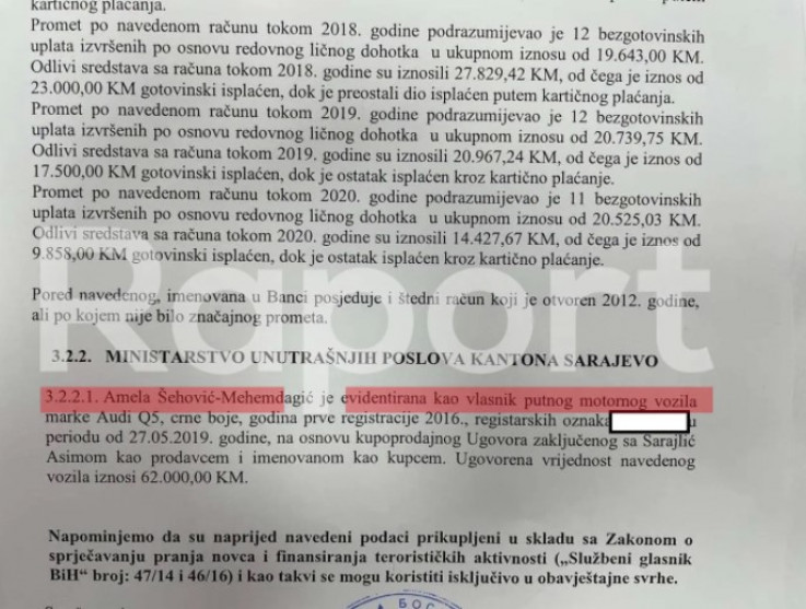 A document proving that Sarajlić sold the vehicle to Mehmedagić's wife