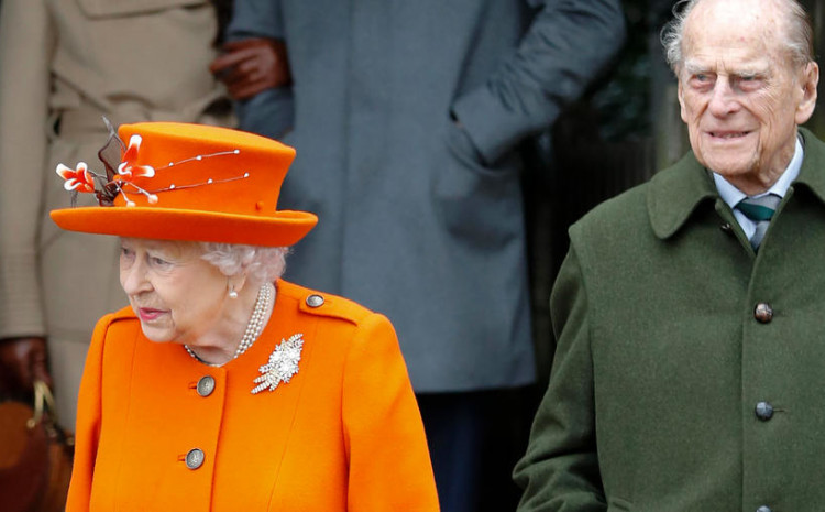 Britain's Queen Elizabeth II and her husband Prince Philip