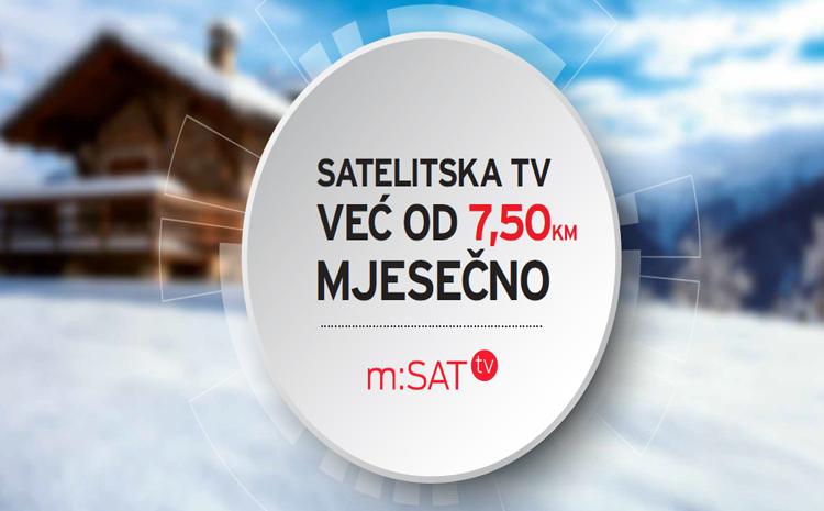 m:SAT – Satelitska TV već od 7,50 KM mjesečno!