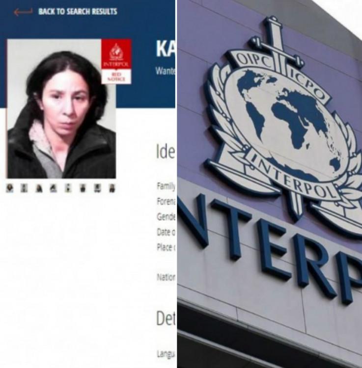 Potjernica koju je izdao Interpol
