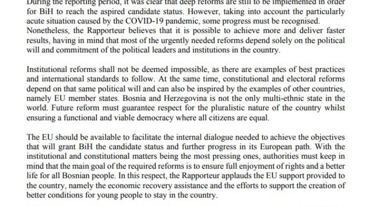 Faksimil dijela rezolucije