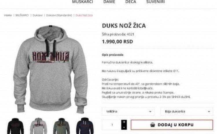 Blokirana stranica na kojoj se reklamirala odjeća sa uvrijedljivim natpisima