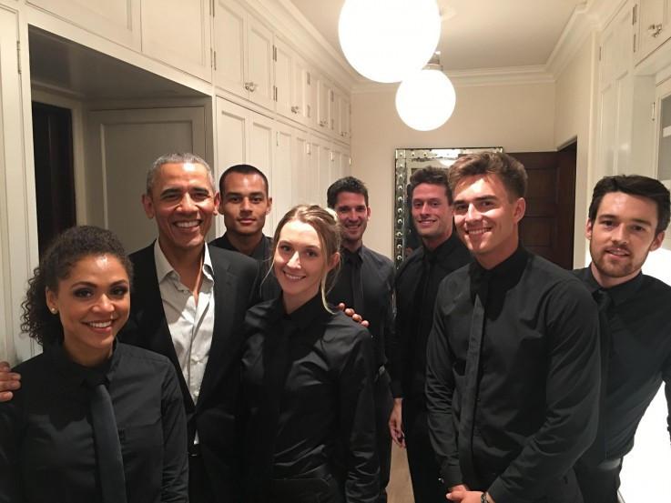 Bronja s kolegama na prijemu kod Baraka Obame