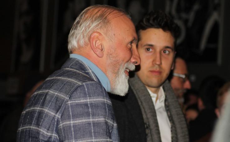 """Dino Merlin sa sinom Hamzom na koncertu grupe """"Leibach"""""""