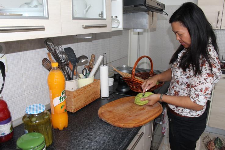 Ingrid uživa u kuhanju
