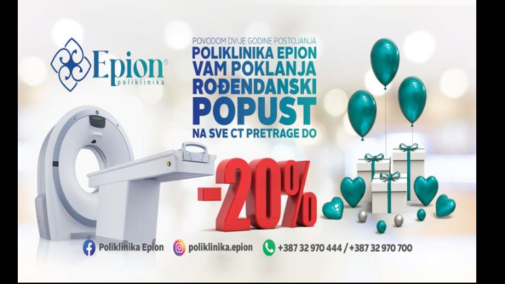 Poliklinika Epion slavi drugi rođendan, očekuju vas popusti, nagradne igre i druga iznenađenja
