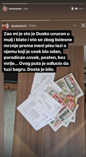 Nakon medijskih navoda da ima ljubavnicu, prvi put se oglasio Duško Tošić