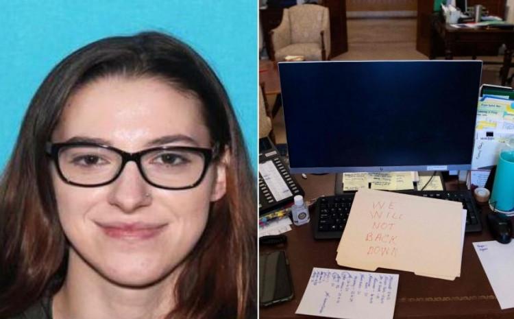 An FBI agent said Riley June Williams was seen near the office of House speaker Nancy Pelosi