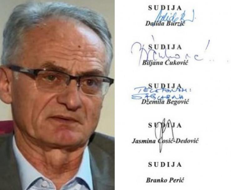 Sudija Perić: Javno demantirao da bilo šta potpisao
