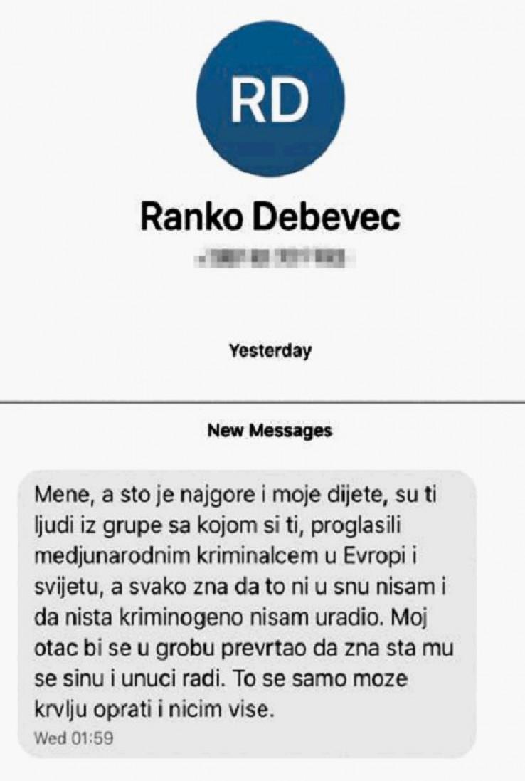 """Mafijaške SMS poruke nedostojne predsjednika Suda BiH:  """"To što se meni radi, može se samo krvlju oprati i ničim više"""""""