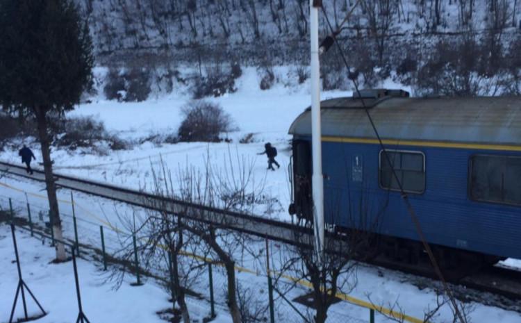 Putnički voz na mjestu nesreće