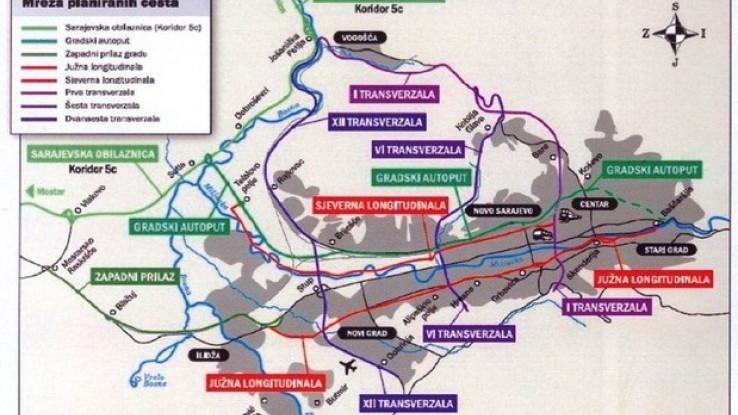 Mreža planiranih cesta