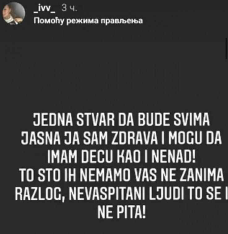 Reperova žena se oglasila na Instagramu