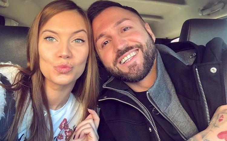 Nenad Aleksić Ša u društvu supruge