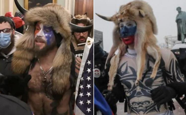 Uočen je demonstrant obučen identično kao Andželi
