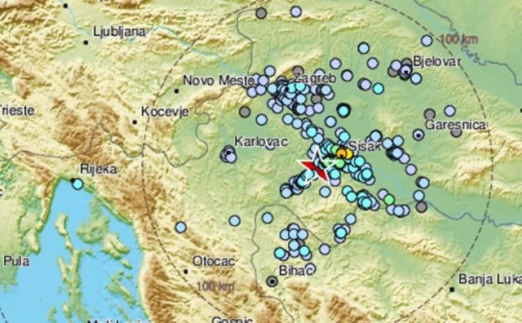 Zemljotres je registriran u 1.37 sati