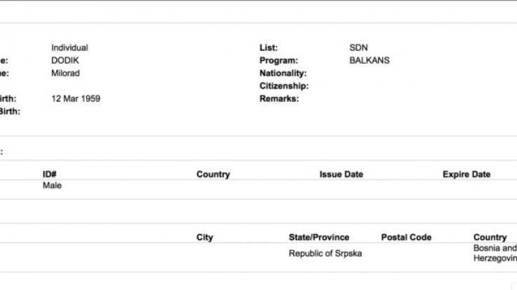 Na listi i Dodik